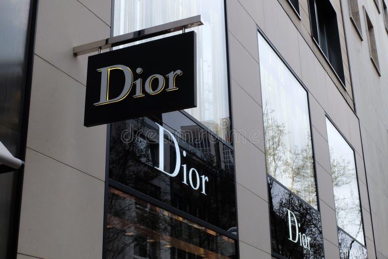 Dior Shop Logo in Frankfurt stock photos