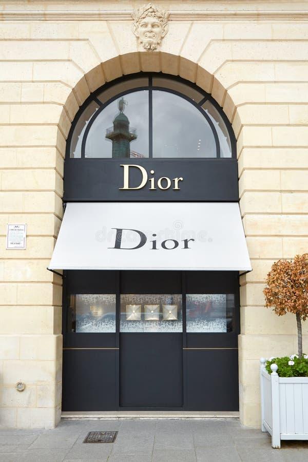 Dior shop in place Vendome in Paris stock photos