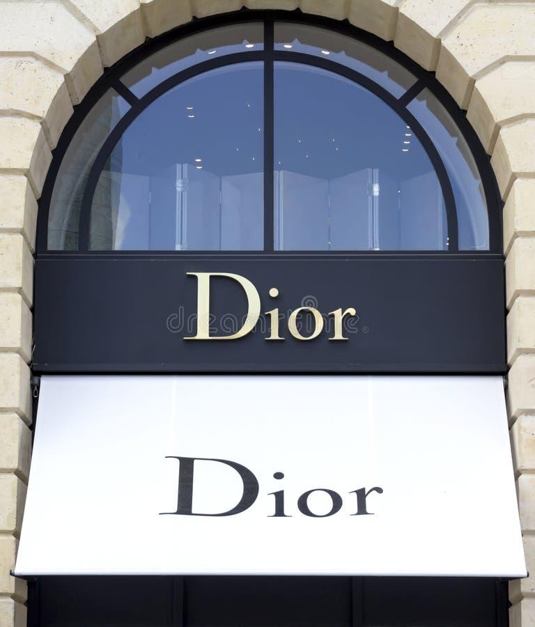 Dior sklep obraz royalty free