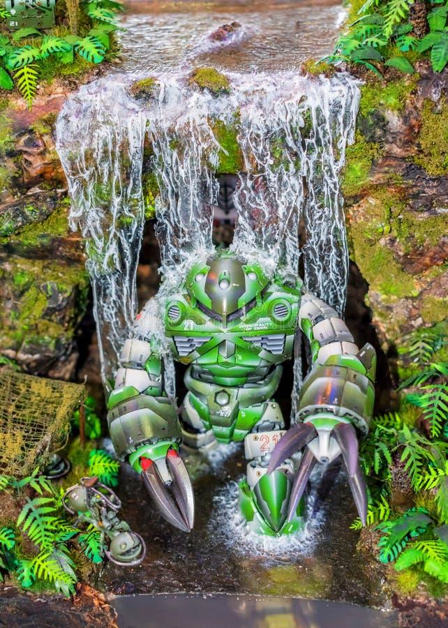 Diorama avec le robot photos stock