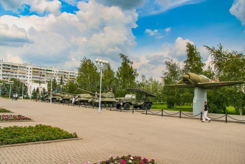 Diorama consacré à la bataille de réservoir de Prokhorovsky photo stock