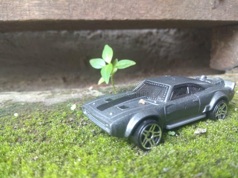 Diorama do carro do brinquedo fotos de stock royalty free