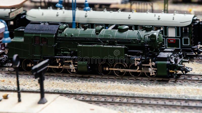 Diorama modèle de train photos stock