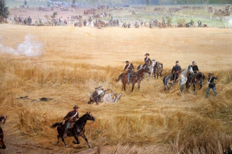 Diorama obraz pole bitwy w Gettysburg Pennsylwania usa obrazy stock