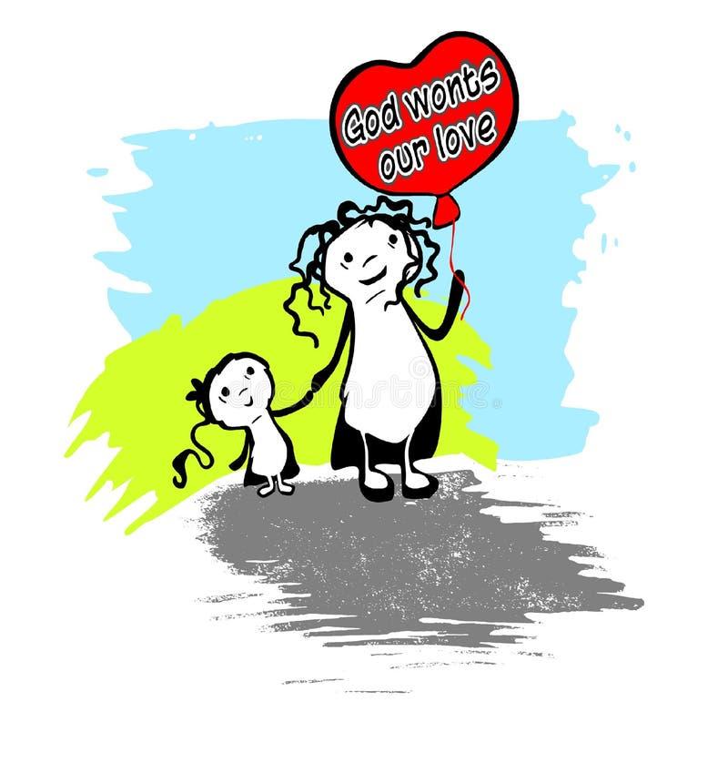 Dios acostumbra nuestro amor libre illustration