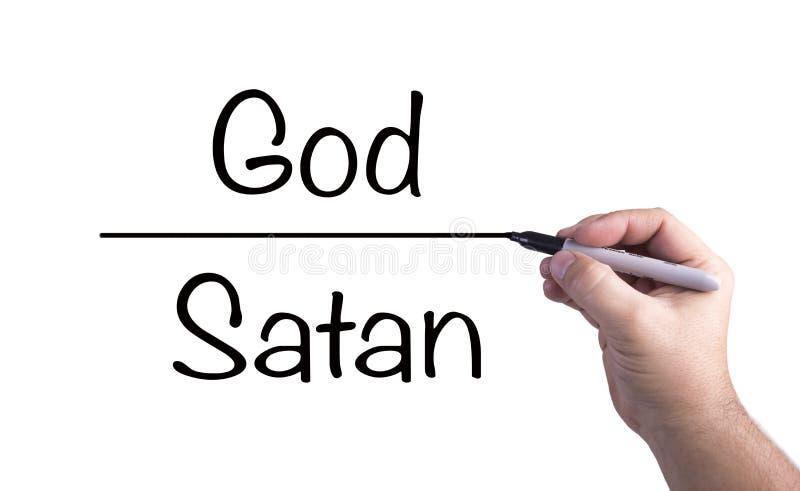 Dios contra Satanás imagen de archivo libre de regalías