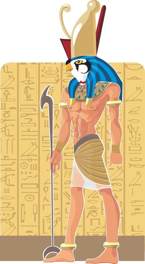 Dios de Egipto Gor stock de ilustración