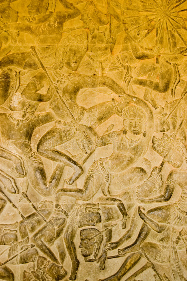 Dios de Kama en la batalla de Kurukshetra fotos de archivo
