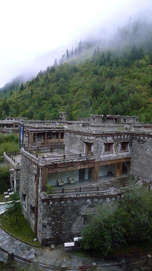 Dios de piedra blanco de la provincia de Sichuan imágenes de archivo libres de regalías