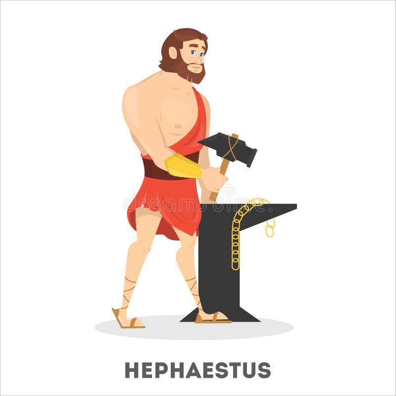 Dios del griego clásico de Hephaestus Herrero de la mitología de Grecia libre illustration