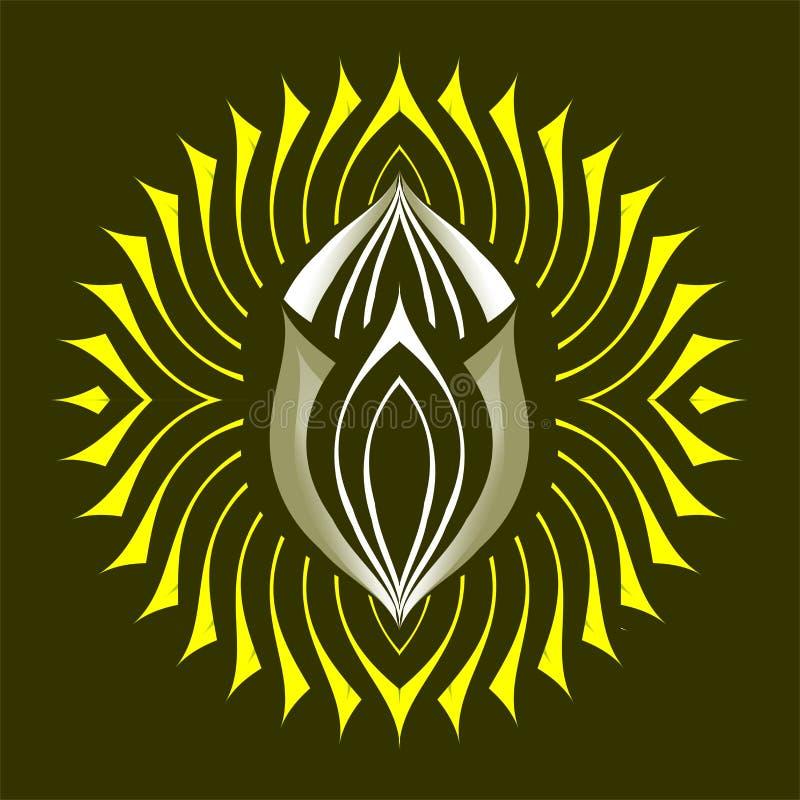 Dios del sol ilustración del vector