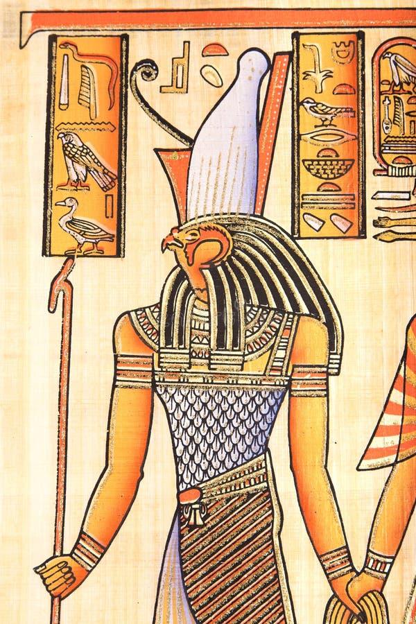 Dios egipcio Horus fotografía de archivo