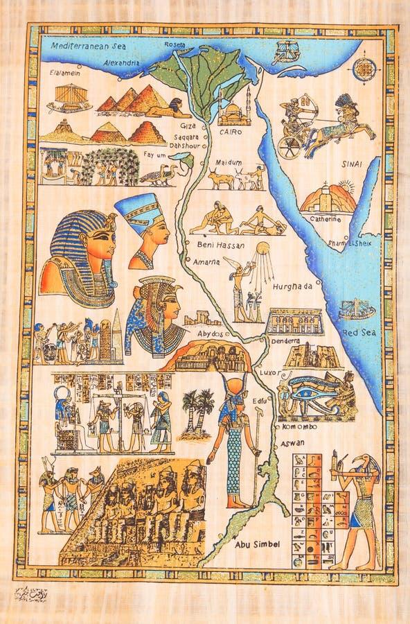 Dios egipcio Horus con la reina Cleopatra foto de archivo
