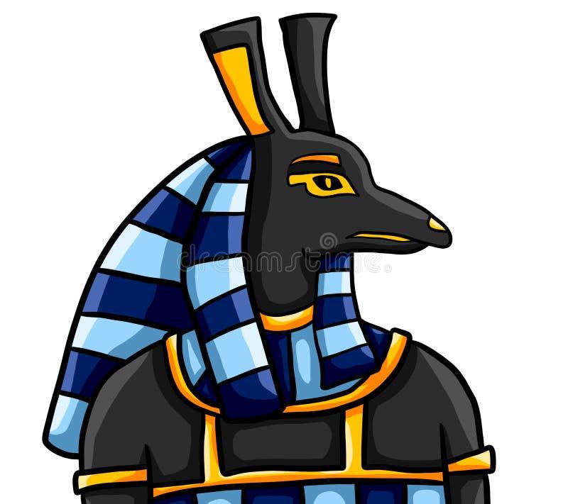 Dios egipcio Seth stock de ilustración