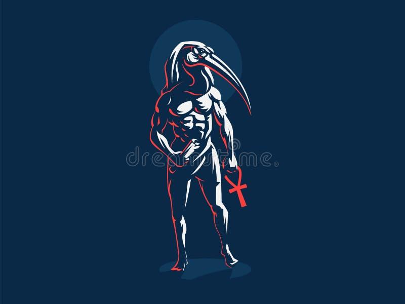Dios egipcio Thoth Ilustración del vector libre illustration