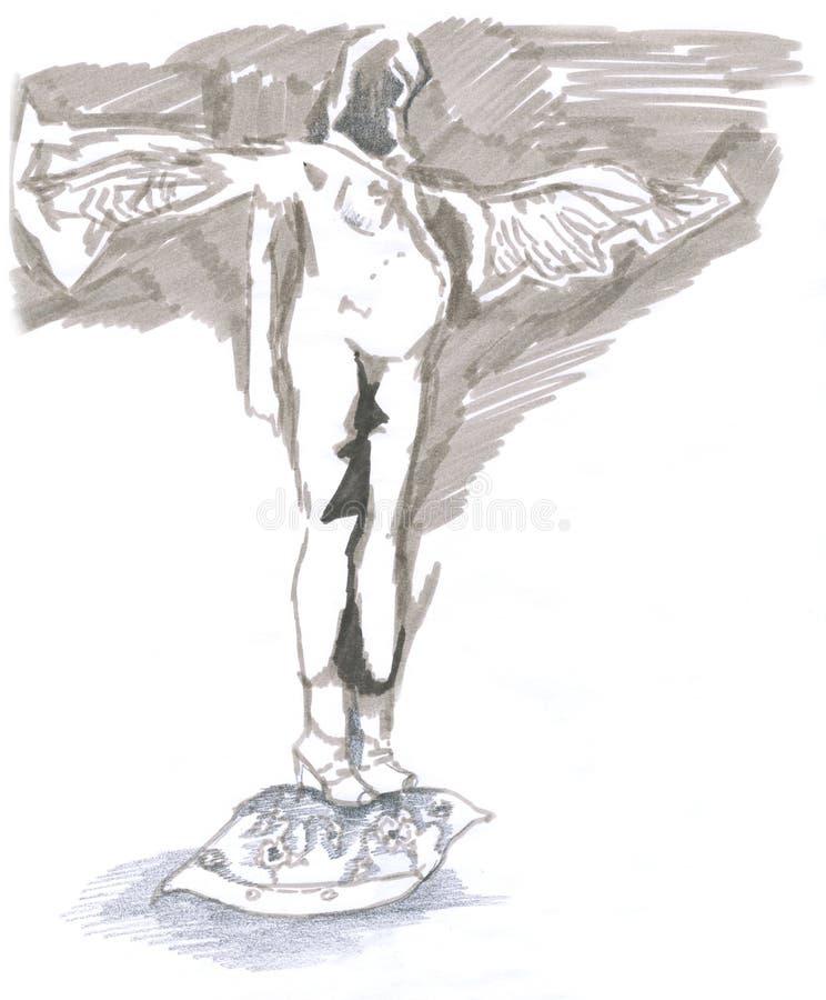 Dios embarazado stock de ilustración