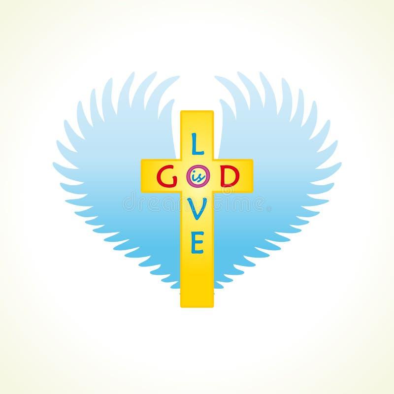 Dios es logotipo del amor libre illustration