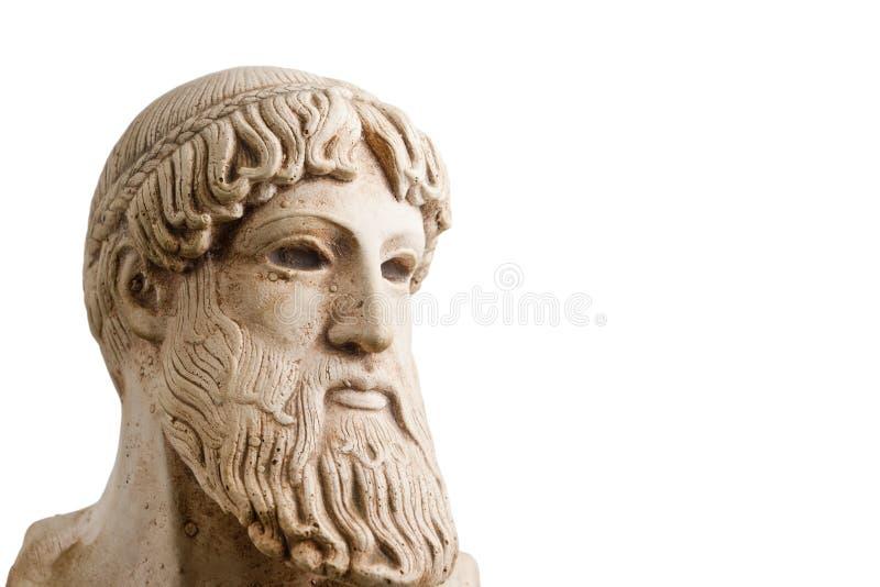 Dios griego en el medio perfil horizontal fotografía de archivo libre de regalías