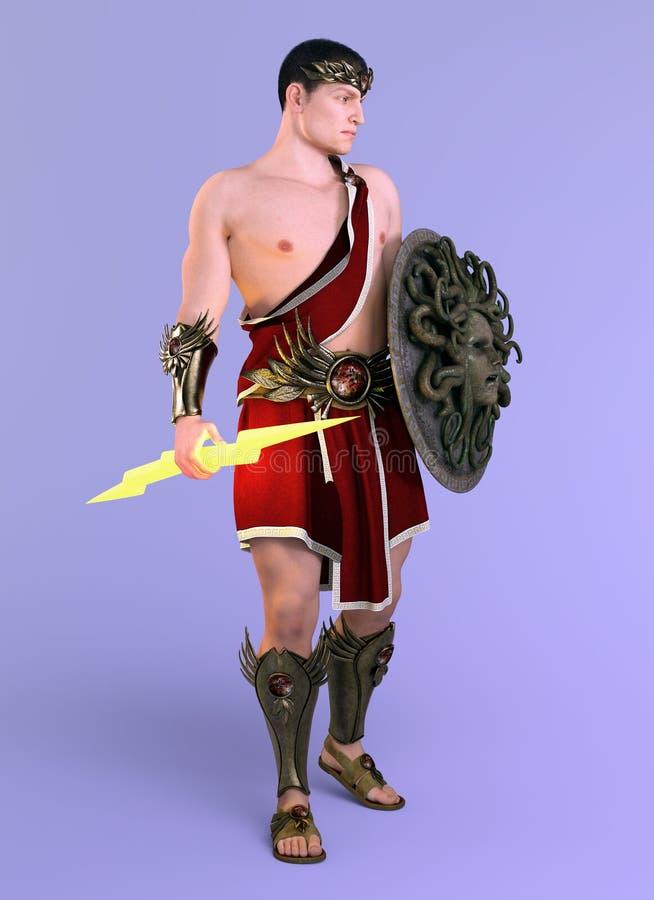 Dios griego Zeus, rey de dioses ilustración del vector