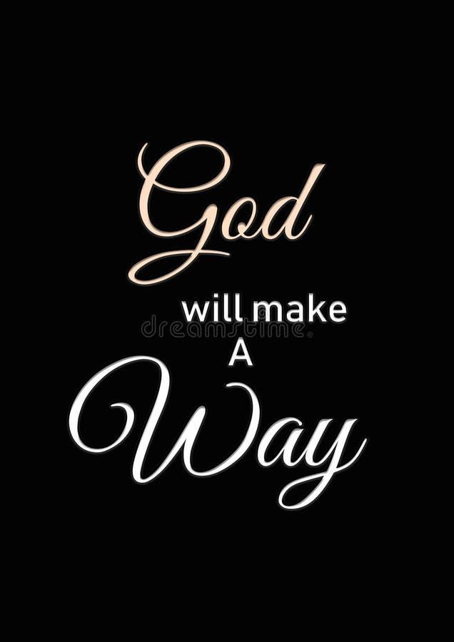 Dios hará una manera stock de ilustración
