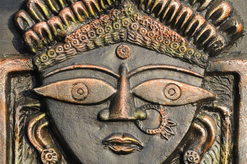Dios hindú Durga. imagenes de archivo