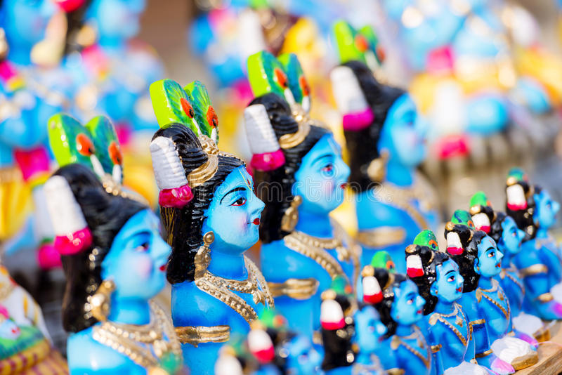 Dios hindú Krishna imágenes de archivo libres de regalías