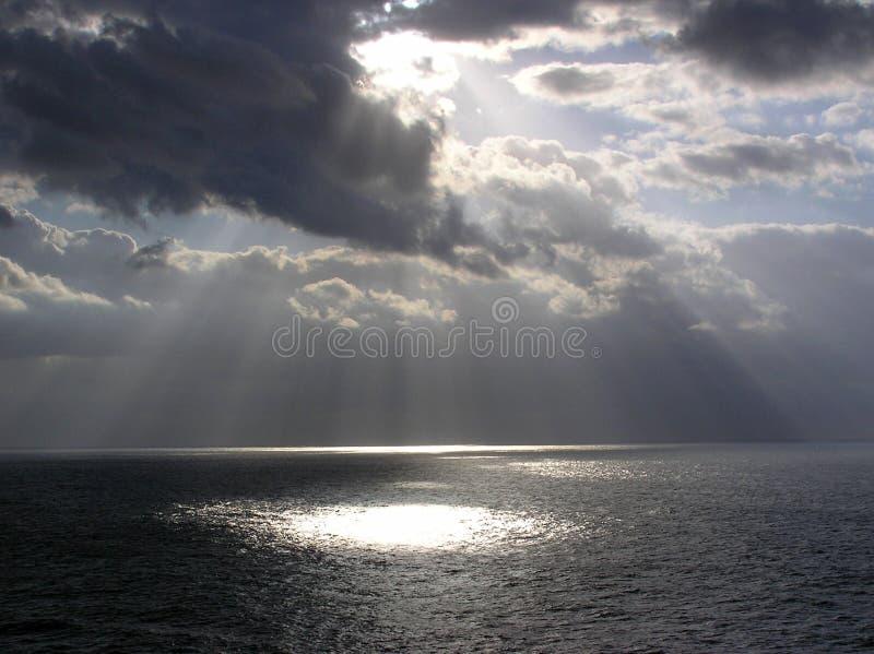 Dios irradia el enroute a St. Thomas imagen de archivo