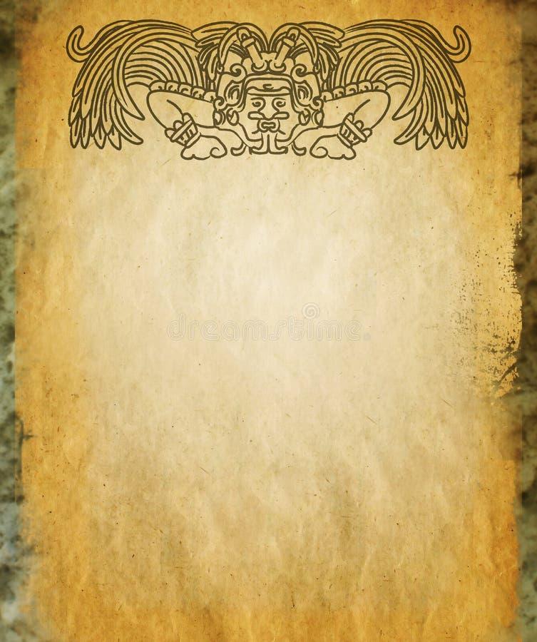 Dios maya en piedra vieja imagen de archivo libre de regalías