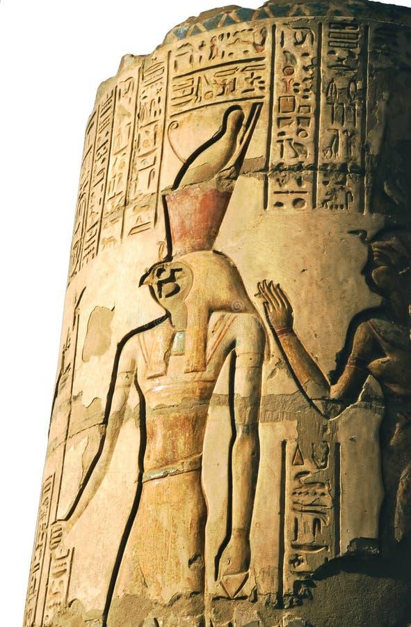 Dios principal Horus del halcón imagenes de archivo