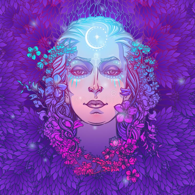 Diosa blanca de la cultura europea Símbolo de la feminidad, generación y muerte de la maternidad Sabido en diversas culturas como libre illustration