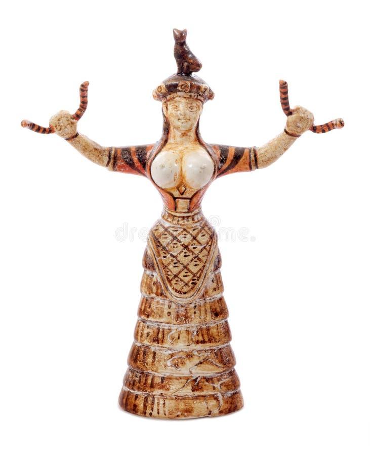 Diosa de la serpiente de Minoan imagen de archivo