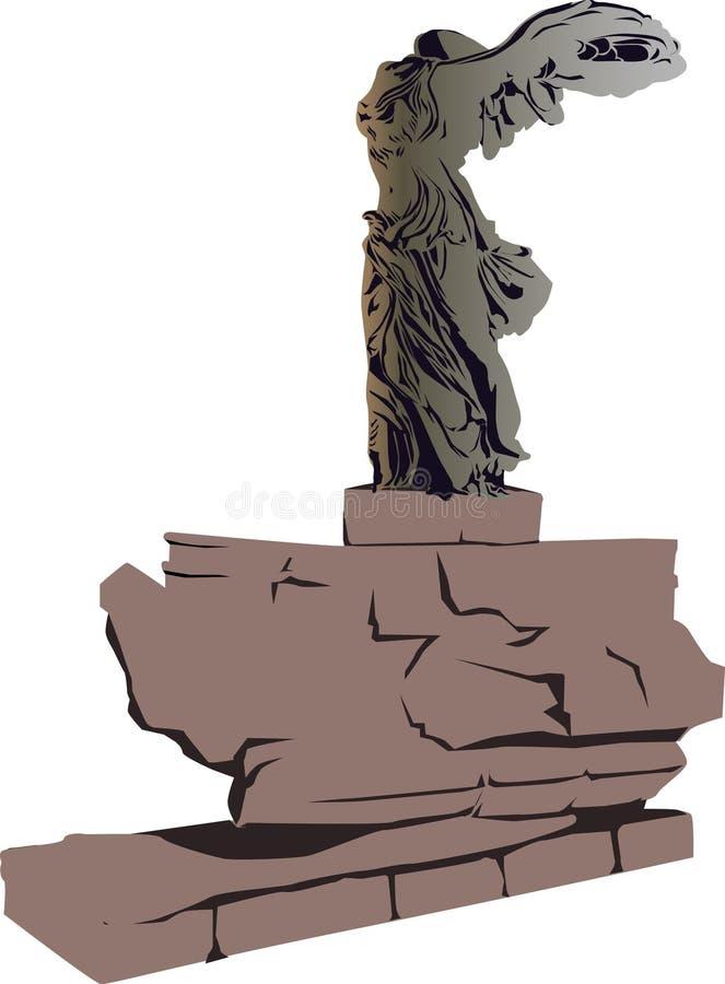 Diosa de la victoria - samothrace foto de archivo libre de regalías