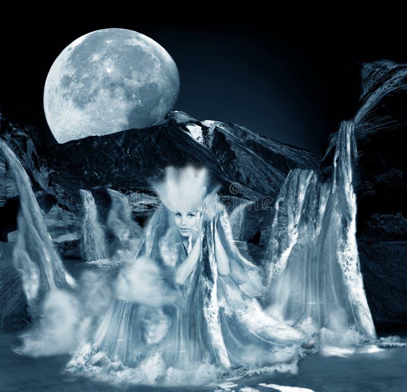 Diosa del agua stock de ilustración