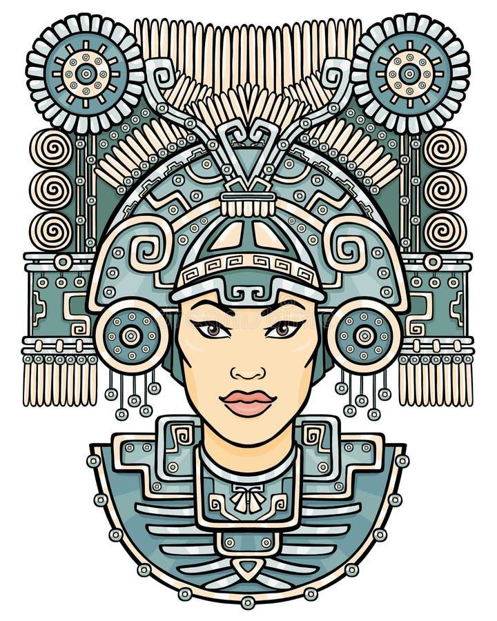 Diosa pagana stock de ilustración