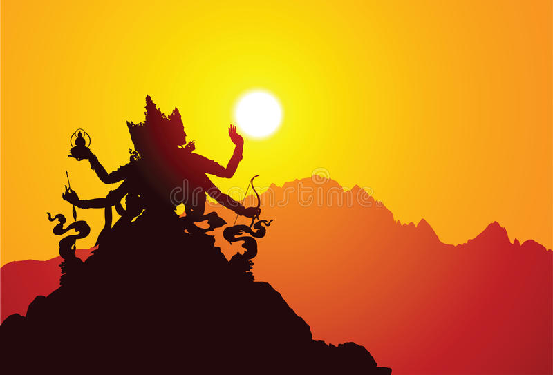 Diosa tibetana stock de ilustración