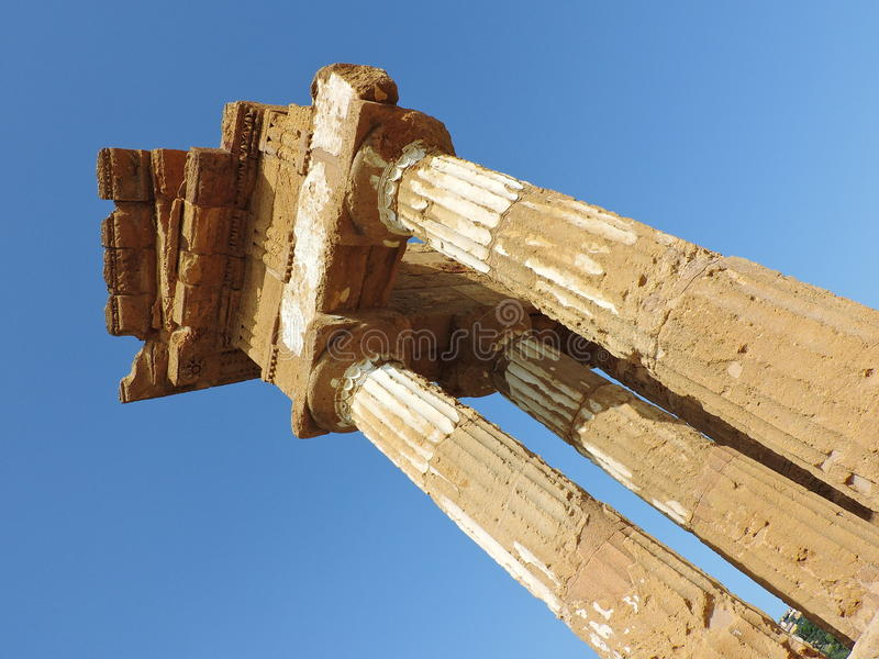 Dioscuri temple royalty free stock images