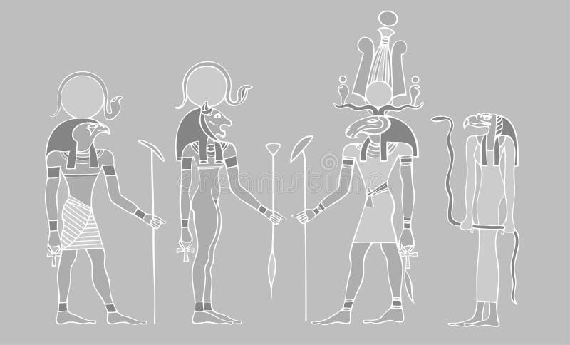Dioses egipcios y símbolos libre illustration