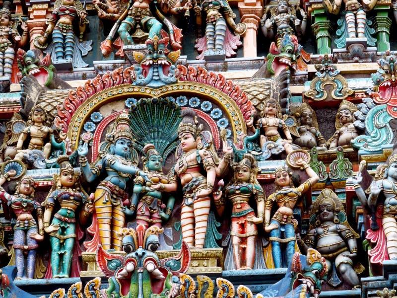 Dioses y estatuas hindúes de la diosa imágenes de archivo libres de regalías