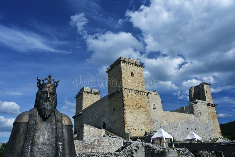 Diosgyor fortecy i kasztelu ruiny w Węgry, dnia czas zdjęcia stock