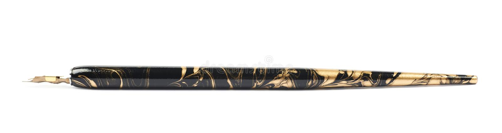 Dip nib ink pen isolated royalty free stock photography