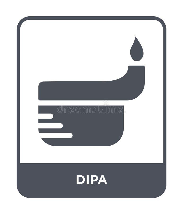dipa ikona w modnym projekta stylu dipa ikona odizolowywająca na białym tle dipa wektorowej ikony prosty i nowożytny płaski symbo ilustracji