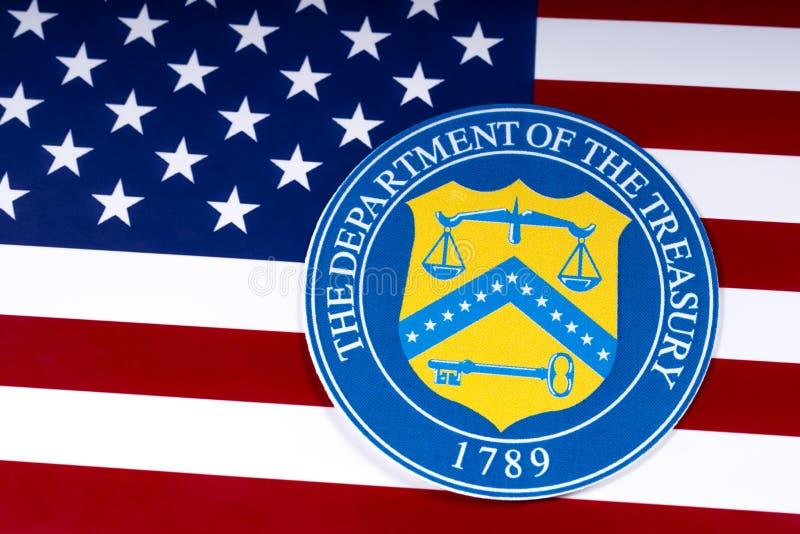Dipartimento degli Stati Uniti del Ministero del Tesoro fotografia stock