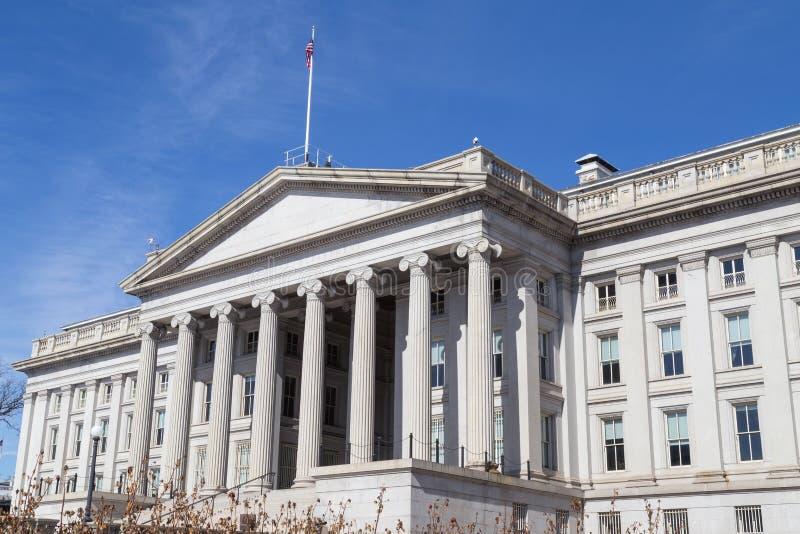 Dipartimento del Ministero del Tesoro, Washington DC immagine stock libera da diritti