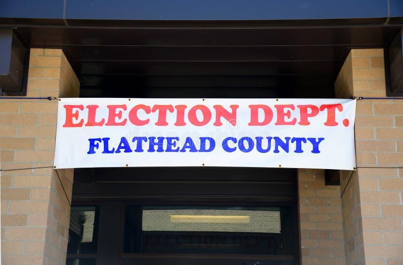 Dipartimento di elezione della contea di Flathead fotografia stock libera da diritti