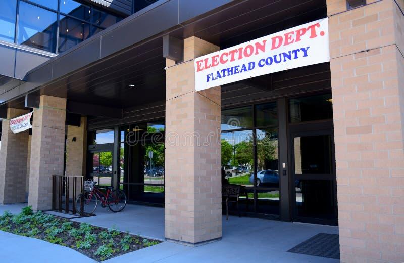Dipartimento di elezione della contea di Flathead fotografia stock