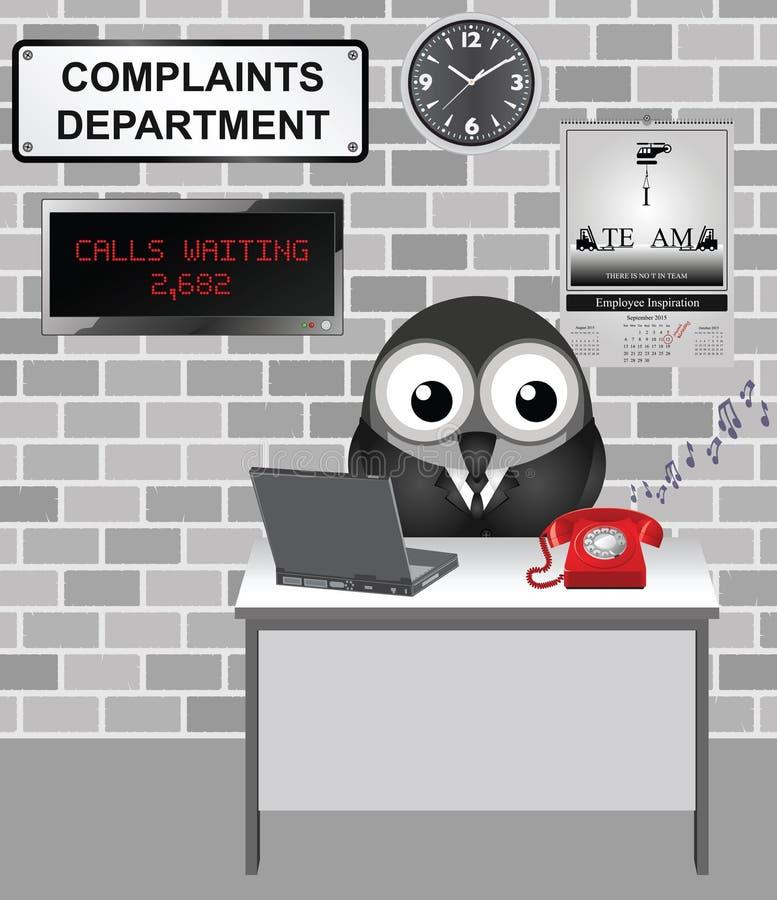 Dipartimento di reclami illustrazione vettoriale