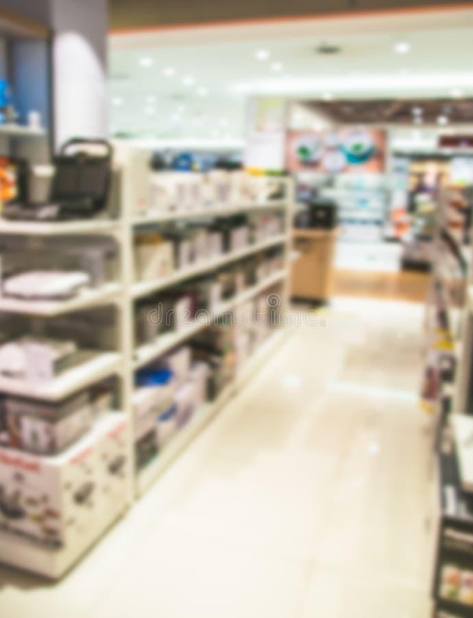 Dipartimento vago di elettronica nel centro commerciale fotografie stock