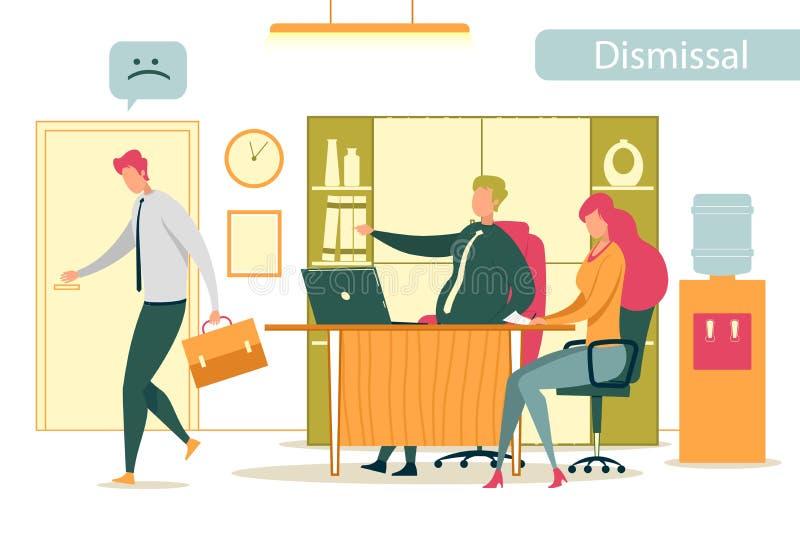 Dipendente Frustrato licenziato che lascia l'Ufficio royalty illustrazione gratis