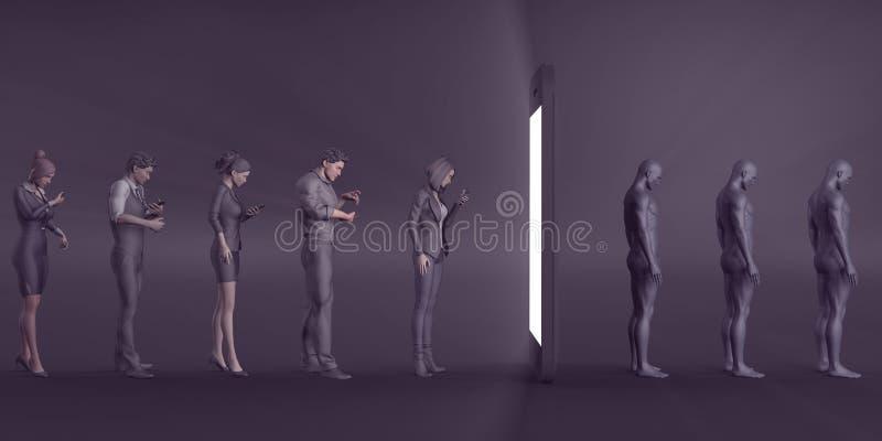 Dipendenza del telefono cellulare royalty illustrazione gratis