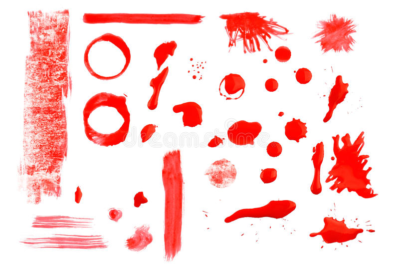 Dipinga gli elementi immagini stock libere da diritti